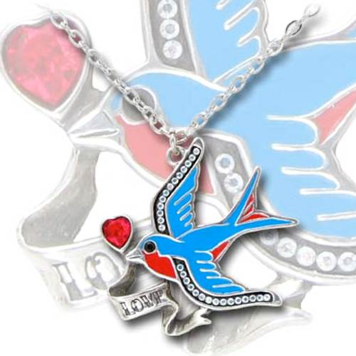 Swallow Love Pendant