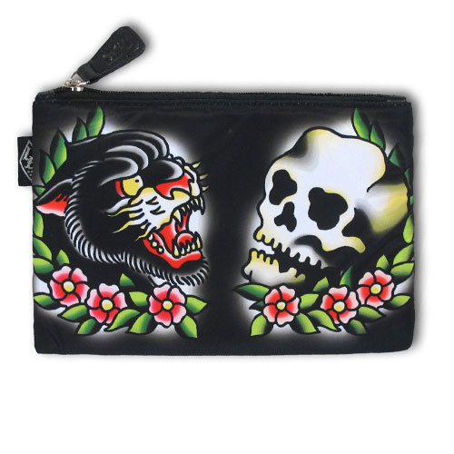 Panther and skull accessories bag