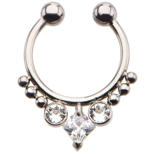 Faux Septum with clear CZ