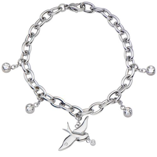 Swallow with gems bracelet