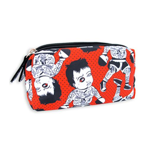 Double zipped make-up bag - Kid Slug
